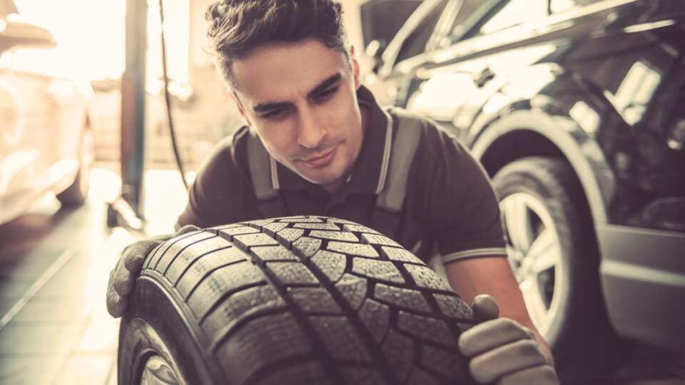 Young man working as a mechanic
